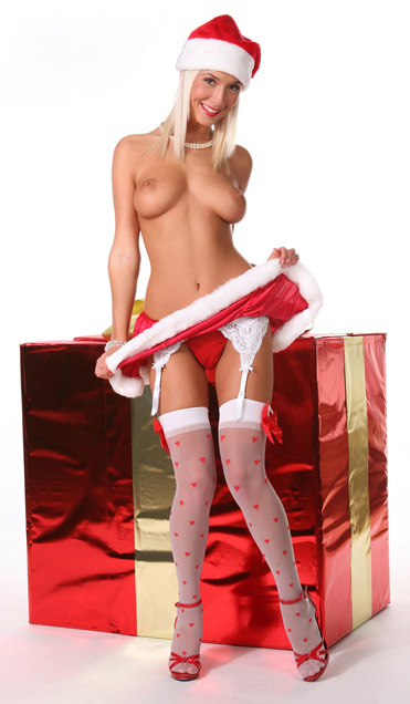 Natali Blond as sexy present